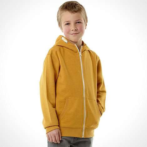 bluezoo - Boy+s yellow basic sweat hoodie
