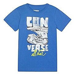 Converse - Boys' blue 'All Star' printed t-shirt