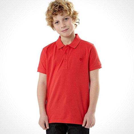 bluezoo - Boy+s pink plain polo top