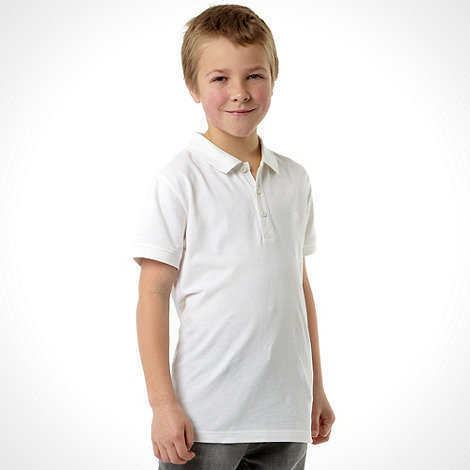 bluezoo - Boy+s white polo top