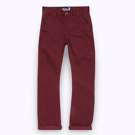 bluezoo - Boy+s dark red twill chinos