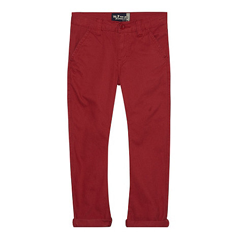 bluezoo - Boy+s dark red carrot leg chinos