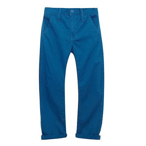 bluezoo - Boy+s blue carrot leg chinos