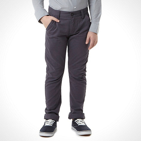 bluezoo - Boy+s dark grey carrot leg chinos