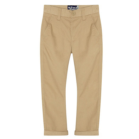 bluezoo - Boy+s tan carrot leg chinos
