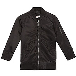 bluezoo - Boys' black longline bomber jacket