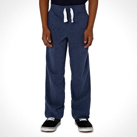 bluezoo - Boy+s navy cuff hem joggers
