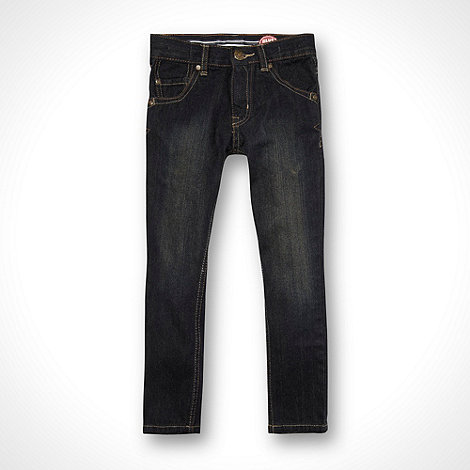 bluezoo - Boy+s dark blue skinny fit jeans