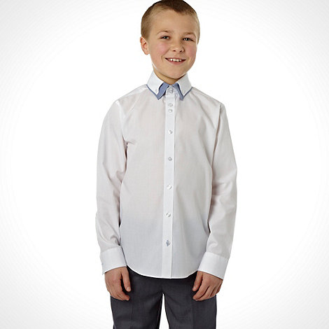 bluezoo - Boy+s white double collar shirt