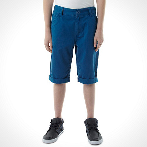 bluezoo - Boy+s blue chino shorts