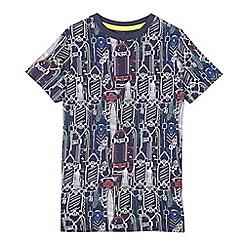 bluezoo - Boys' navy skateboard print t-shirt
