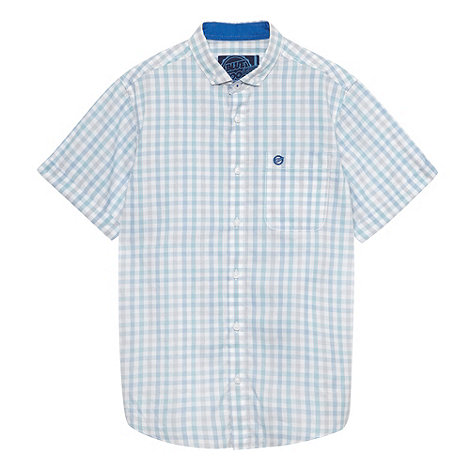 bluezoo - Boy+s blue gingham shirt