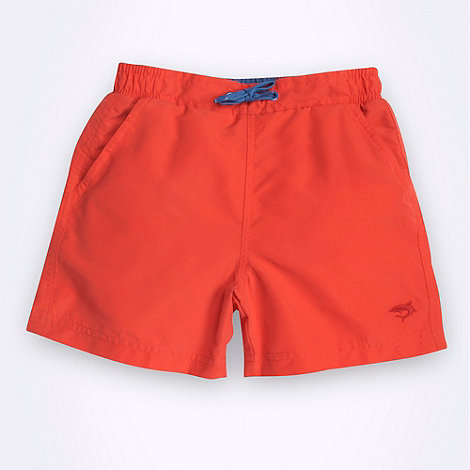 bluezoo - Boy+s red plain swim shorts