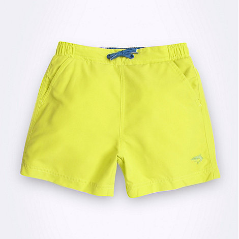 bluezoo - Boy's lime plain swim shorts