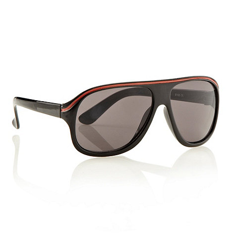 bluezoo - Boy+s black striped aviator sunglasses