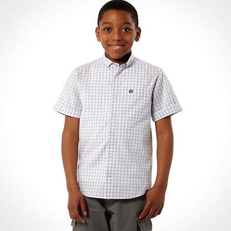 bluezoo - Boy+s grey gingham shirt