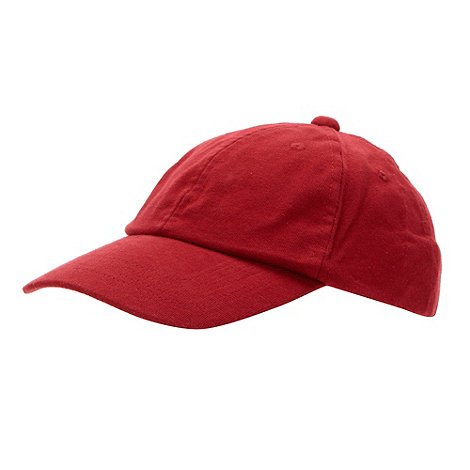 bluezoo - Boy+s red plain baseball cap