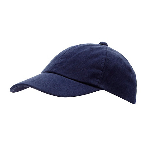 bluezoo - Boy+s blue plain baseball cap