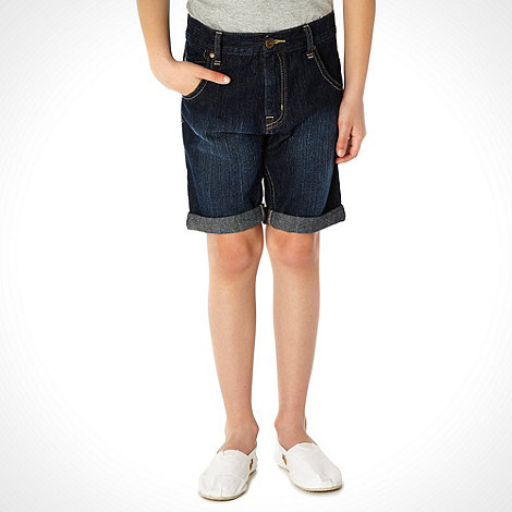bluezoo - Boy+s navy denim shorts