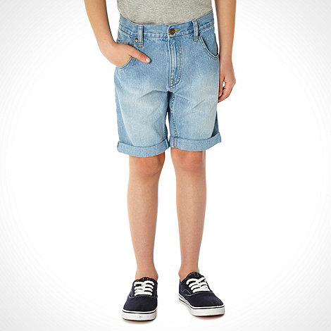 bluezoo - Boy+s pale blue denim shorts