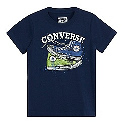 Converse - Boys' navy Converse trainer print t-shirt