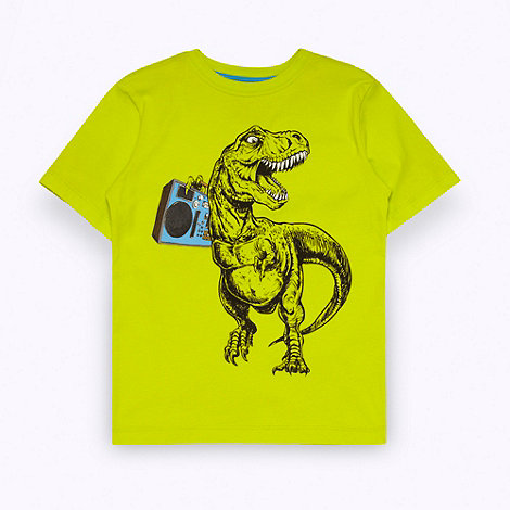 bluezoo - Boy+s yellow dino printed t-shirt
