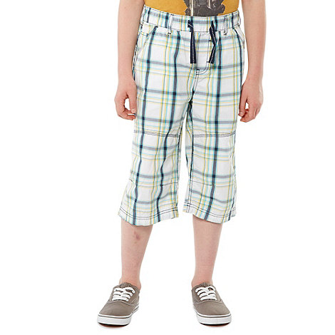 bluezoo - Boy+s pack of two multi checked and plain shorts