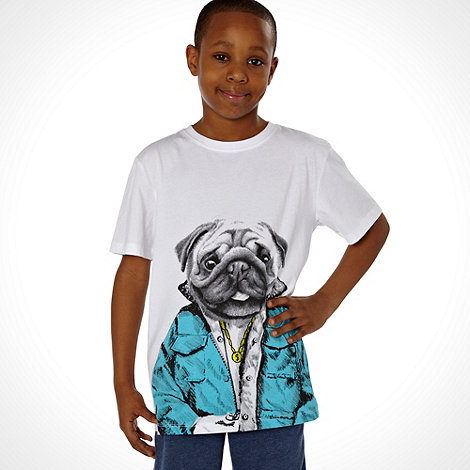 bluezoo - Boy+s white cool bulldog t-shirt