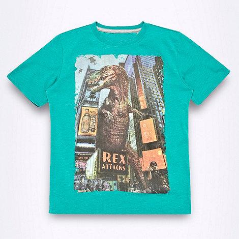 bluezoo - Boy+s green dinosaur motif t-shirt