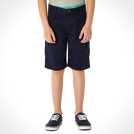 bluezoo - Boy+s navy cargo shorts
