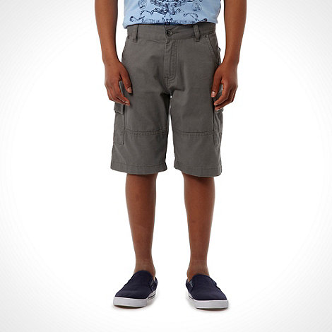 bluezoo - Boy+s grey cargo shorts