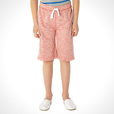 bluezoo - Boy+s pack of two peach and grey textured shorts