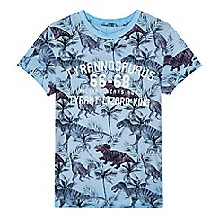 Mantaray - Boys' blue dinosaur print t-shirt