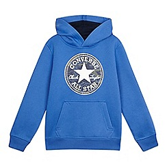 Converse - Boys' 'All Star' blue hoodie