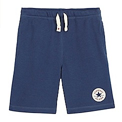 Converse - Boys' navy logo applique shorts