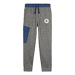 Converse - Boys' grey knitted logo applique jogging bottoms