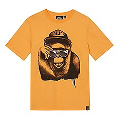 Animal - Boys' yellow monkey print t-shirt