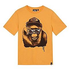 Animal - Boys' yellow monkey print t-shirt