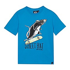 Animal - Boys' blue street rat print t-shirt