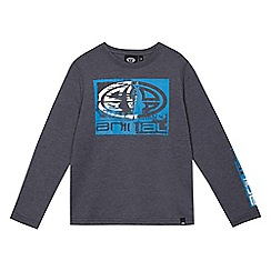 Animal - Boys' blue logo print long sleeved top