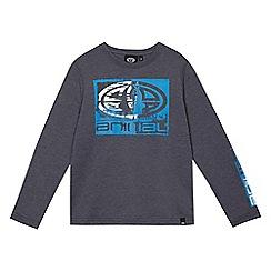 Animal - Boys' blue logo print long sleeved top