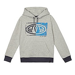 Animal - Boys' grey logo print hoodie