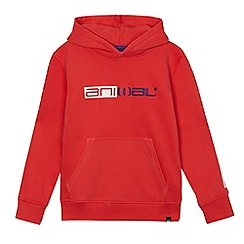 Animal - Boys' red stitched logo hoodie