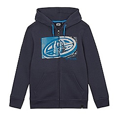 Animal - Boys' blue logo print zip through hoodie