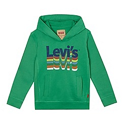 Levi's - Boys' green logo print hoodie