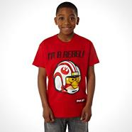 Boy's red 'Rebel' t-shirt