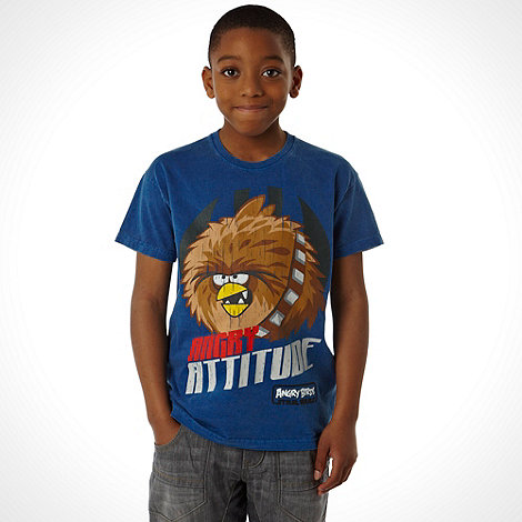 Angry Birds Star Wars - Boy+s dark blue +Angry Bird Wookie+ t-shirt