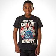 Boy's black 'Who you callin' angry' t-shirt