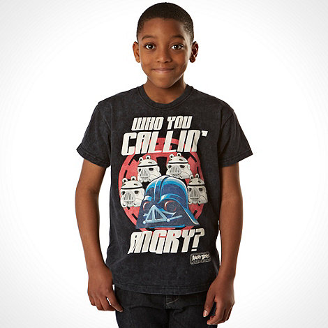 Angry Birds Star Wars - Boy+s black +Who you callin+ angry+ t-shirt