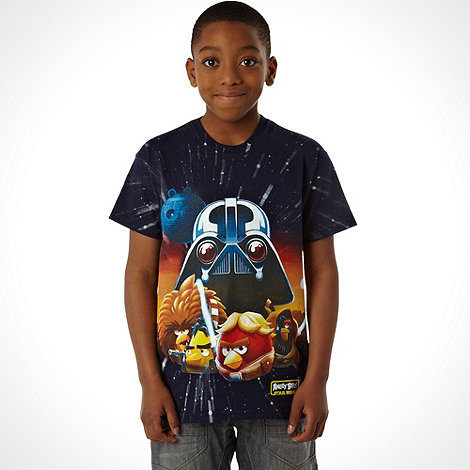 Angry Birds Star Wars - Boy+s navy character +Angry Birds Star Wars+ t-shirt